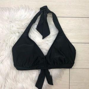 Athleta Black Halter Tie Wire Bikini Swim Top